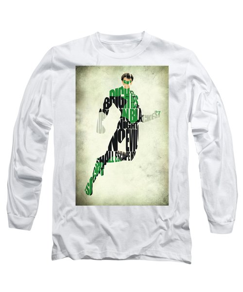 Green Lantern Long Sleeve T-Shirt by Ayse Deniz