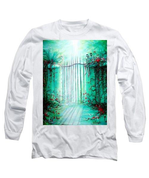 Green Skeleton Gate Long Sleeve T-Shirt