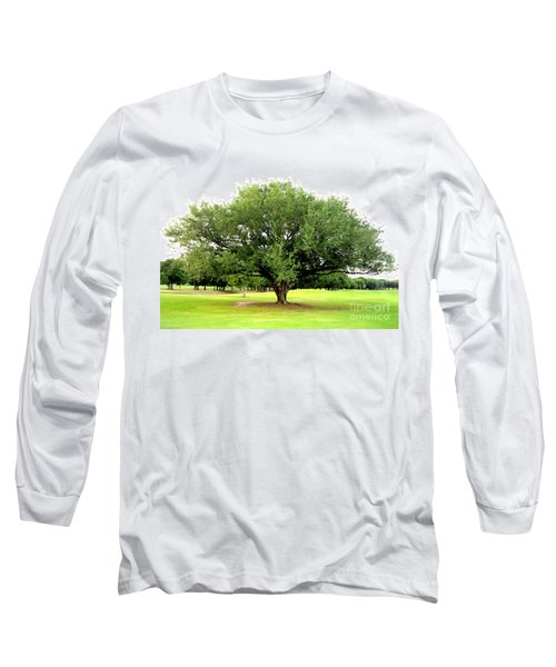 Long Sleeve T-Shirt featuring the photograph Green Tree by Oksana Semenchenko