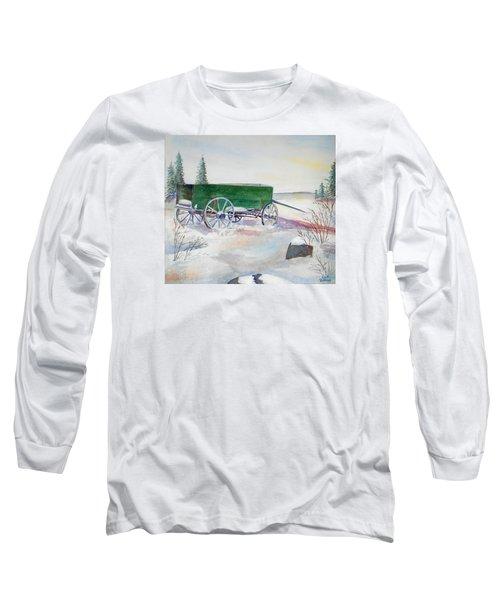 Green Wagon Long Sleeve T-Shirt by Christine Lathrop