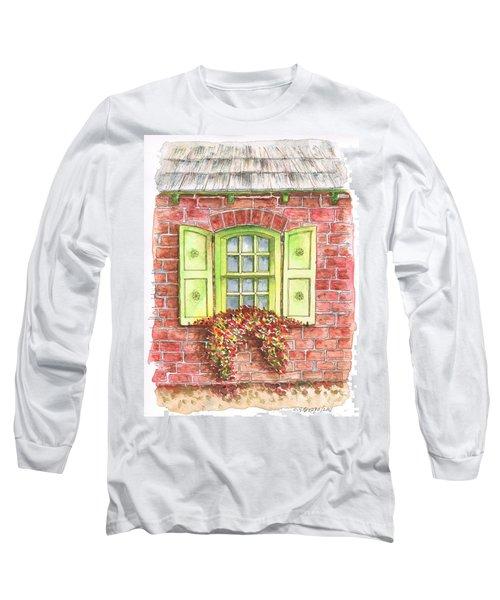 Green Window Long Sleeve T-Shirt