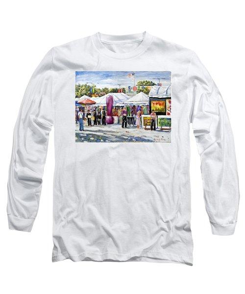 Greenwich Art Fair Long Sleeve T-Shirt by Alexandra Maria Ethlyn Cheshire
