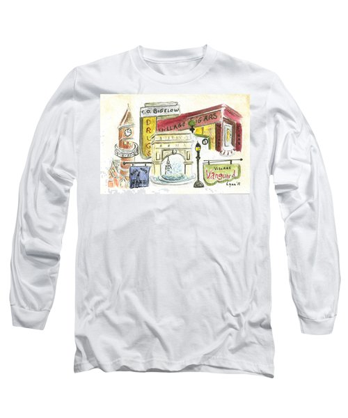 Greenwich Village Collage Long Sleeve T-Shirt