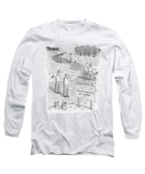 Groups Of Construction Workers Paralyzed Long Sleeve T-Shirt