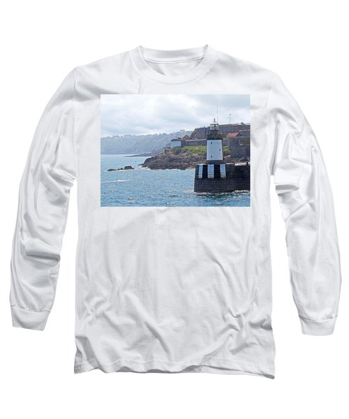 Guernsey Lighthouse Long Sleeve T-Shirt by Gill Billington