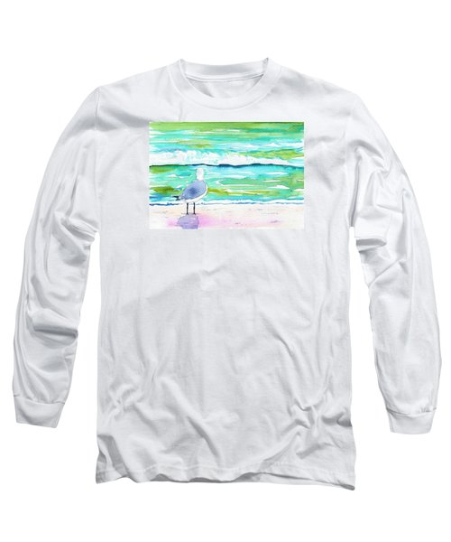 Gull Long Sleeve T-Shirt by Anne Marie Brown