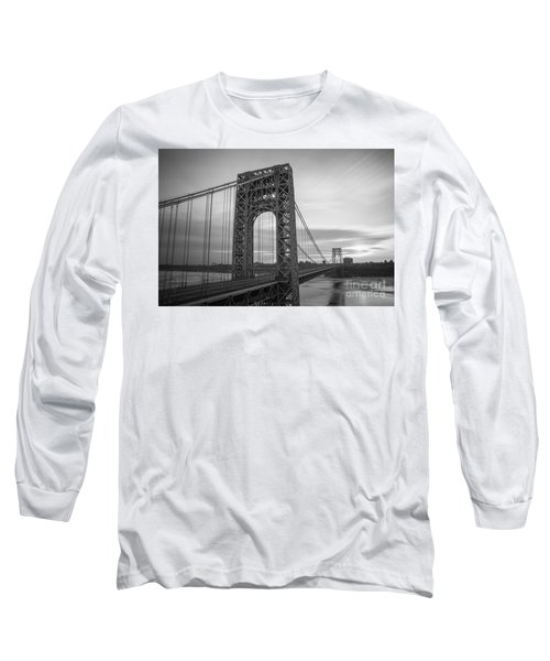 Gw Bridge Winter Sunrise Long Sleeve T-Shirt