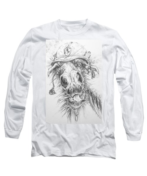 Hair-ied Horse Soilder Long Sleeve T-Shirt by Scott and Dixie Wiley