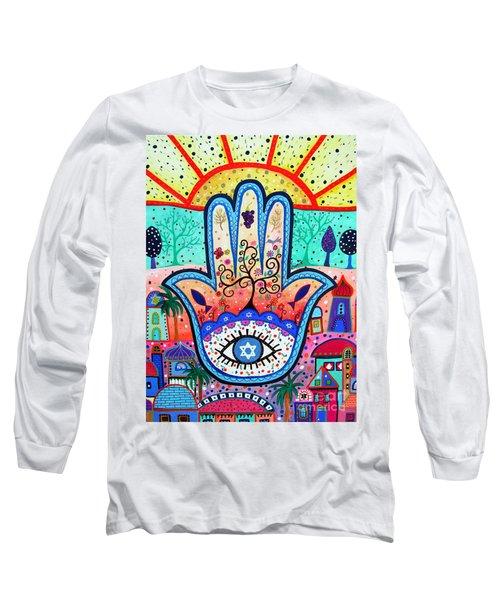 Hamesh Evil Eye Long Sleeve T-Shirt
