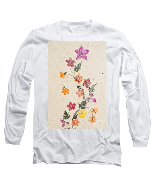 Long Sleeve T-Shirt featuring the photograph handmade paper from Madagascar 3 by Rudi Prott