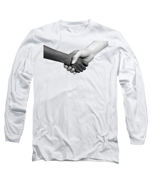 Handshake Black And White Long Sleeve T-Shirt