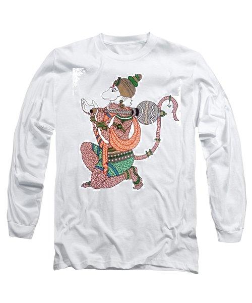 Hanuman Long Sleeve T-Shirt by Kruti Shah