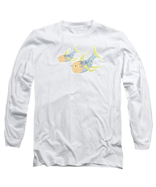 Happy Blue Fish Long Sleeve T-Shirt