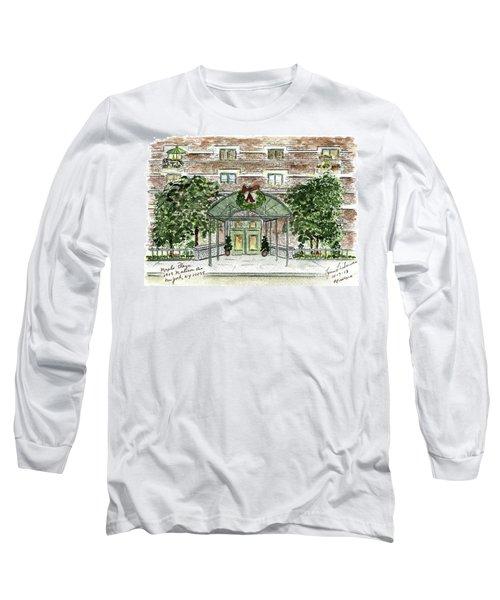 Happy Holidays At 1919 Madison Avenue In Harlem Long Sleeve T-Shirt by AFineLyne