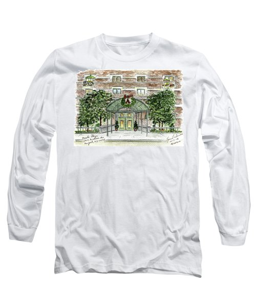 Happy Holidays At 1919 Madison Avenue In Harlem Long Sleeve T-Shirt