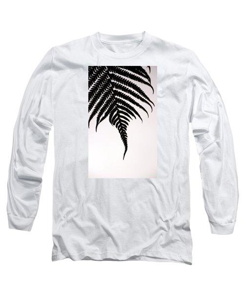 Hapu'u Frond Leaf Silhouette Long Sleeve T-Shirt by Lehua Pekelo-Stearns