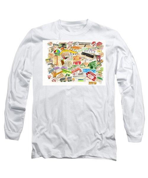 Harlem Collage Long Sleeve T-Shirt by AFineLyne