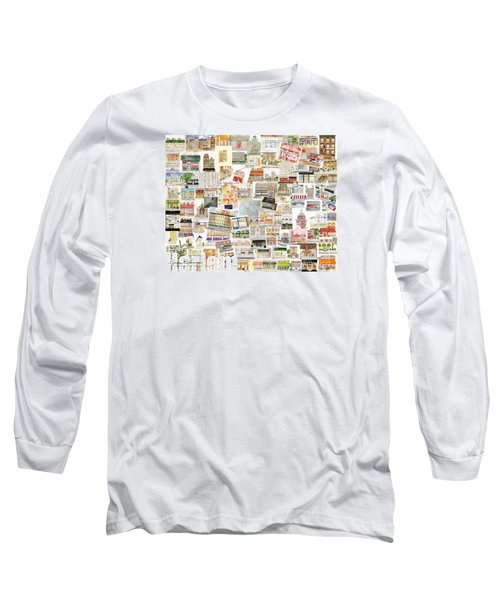 Harlem Collage Of Old And New Long Sleeve T-Shirt by AFineLyne