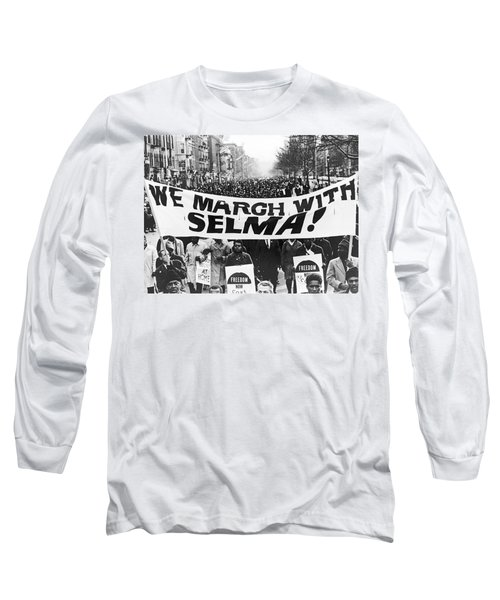 Harlem Supports Selma Long Sleeve T-Shirt by Stanley Wolfson