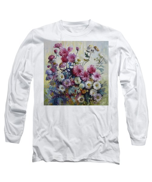 Long Sleeve T-Shirt featuring the painting Harmonies Of Autumn by Elena Oleniuc