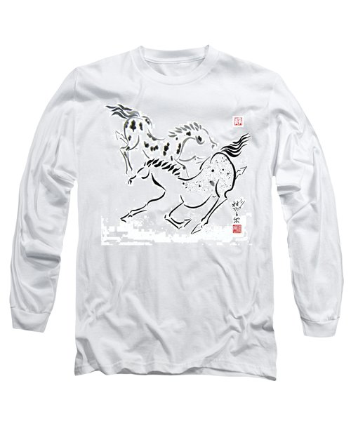 Long Sleeve T-Shirt featuring the painting Harmony by Bill Searle