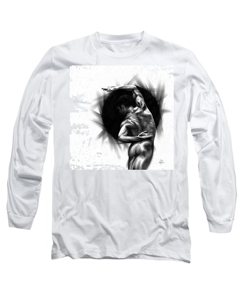 Long Sleeve T-Shirt featuring the drawing Harmony by Paul Davenport