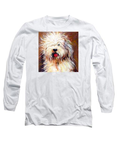 Harvey The Sheepdog Long Sleeve T-Shirt by Rebecca Korpita