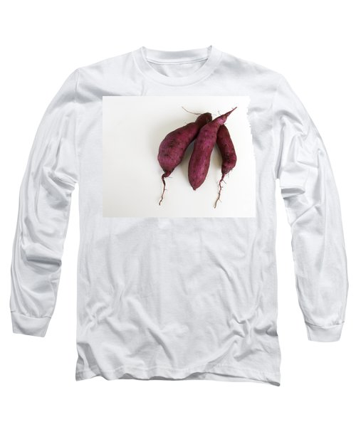 Hawaiian Purple Sweet Potatos Long Sleeve T-Shirt by Denise Bird
