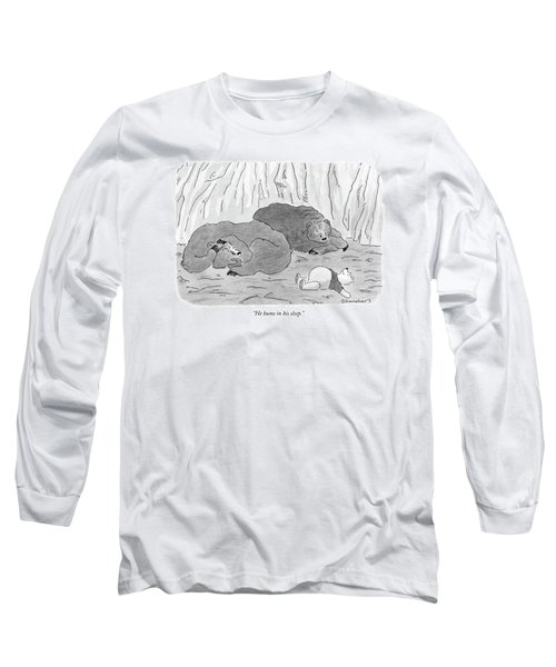 He Hums In His Sleep Long Sleeve T-Shirt