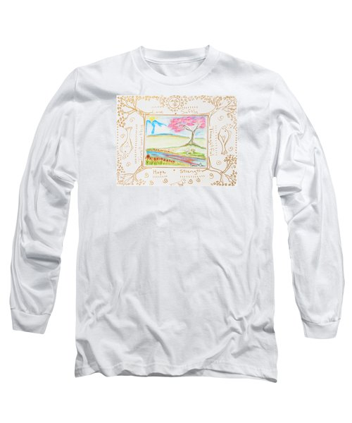 He Restores My Soul Long Sleeve T-Shirt by Cassie Sears