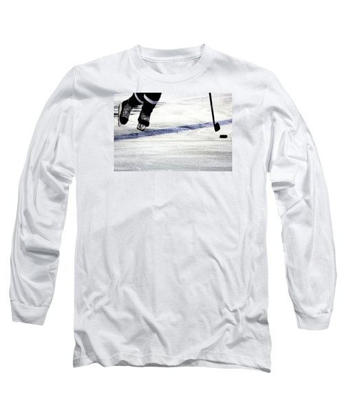 He Skates Long Sleeve T-Shirt by Karol Livote