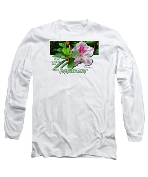 Long Sleeve T-Shirt featuring the photograph Hear And Receive by Larry Bishop