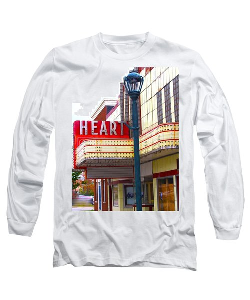 Heart Theatre Effingham Illinois  Long Sleeve T-Shirt by Suzanne Lorenz