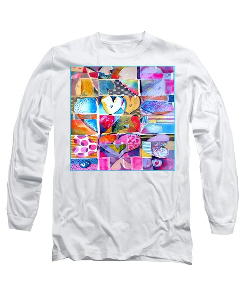 Heart Throbs Long Sleeve T-Shirt by Mindy Newman