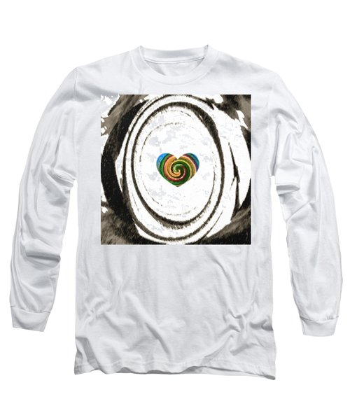 Long Sleeve T-Shirt featuring the digital art Heart Within by Catherine Lott