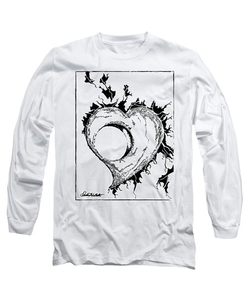 You Left A Whole In My Heart Long Sleeve T-Shirt by Dani Abbott