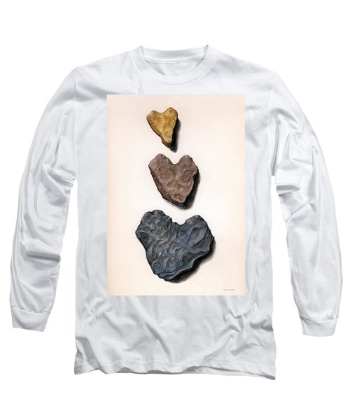 Long Sleeve T-Shirt featuring the painting Hearts Rock by Janice Dunbar