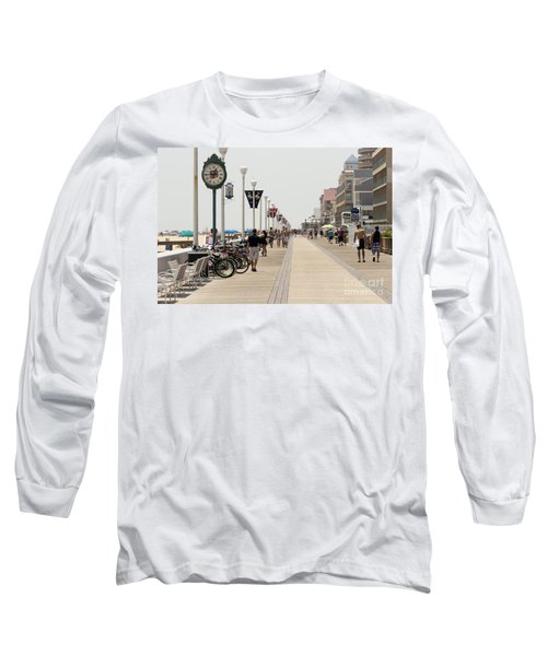 Heat Waves Make The Boardwalk Shimmer In The Distance Long Sleeve T-Shirt