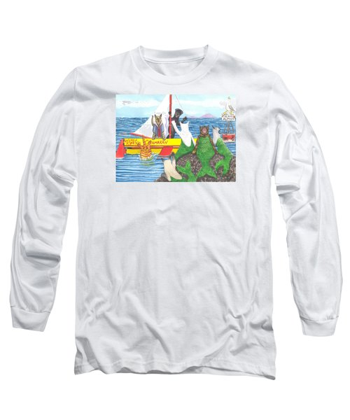 Hello Mer Kitties Long Sleeve T-Shirt