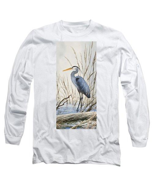 Herons Natural World Long Sleeve T-Shirt by James Williamson