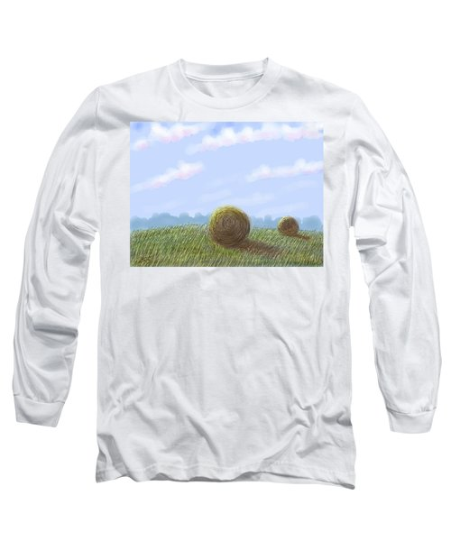Hey I See Hay Long Sleeve T-Shirt by Stacy C Bottoms