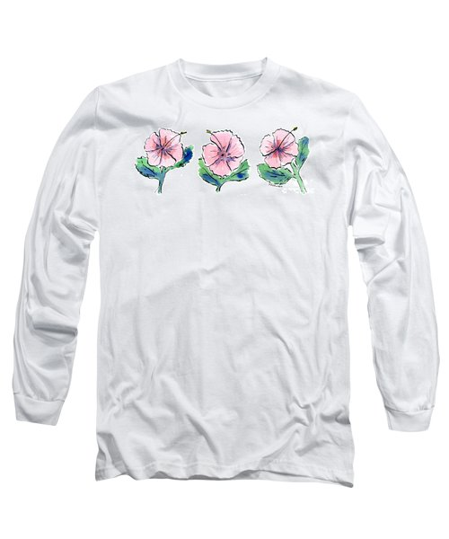 Hibiscus Trio Long Sleeve T-Shirt
