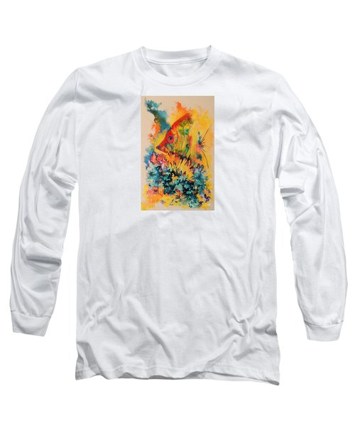 Long Sleeve T-Shirt featuring the painting Hiding Amongst The Coral by Lyn Olsen