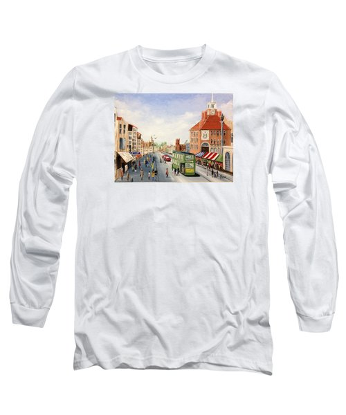 High Street Long Sleeve T-Shirt by Helen Syron