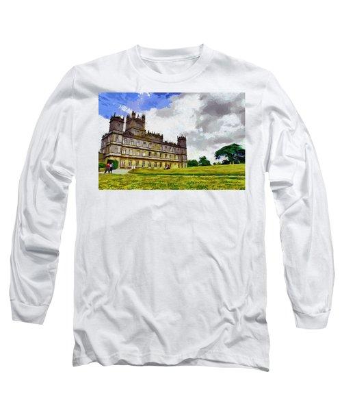 Highclere Castle Long Sleeve T-Shirt by Georgi Dimitrov