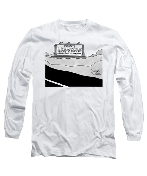 Highway Sign That Says Welcome To Las Vegas Long Sleeve T-Shirt