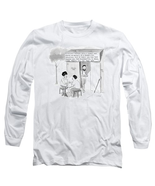 Hipsters At A Restaurant Building Called Long Sleeve T-Shirt