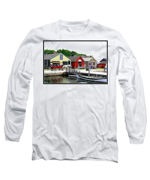 Historic Mystic Seaport Long Sleeve T-Shirt by Dora Sofia Caputo Photographic Art and Design
