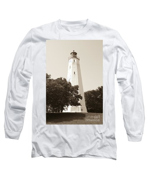Historic Sandy Hook Lighthouse Long Sleeve T-Shirt by Anthony Sacco