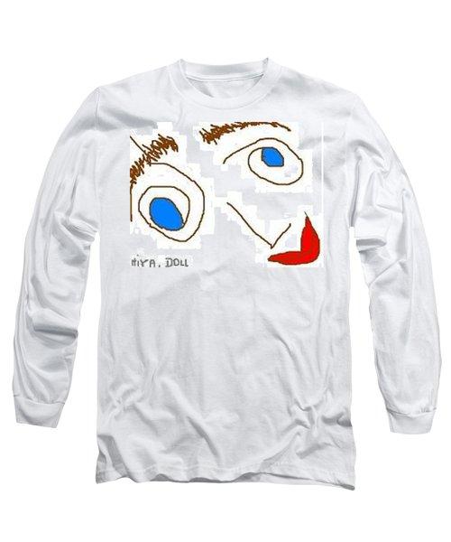 Hiya Doll Long Sleeve T-Shirt by Lenore Senior